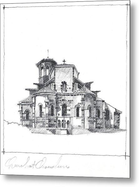 Roman Church At Chamalieres Metal Print