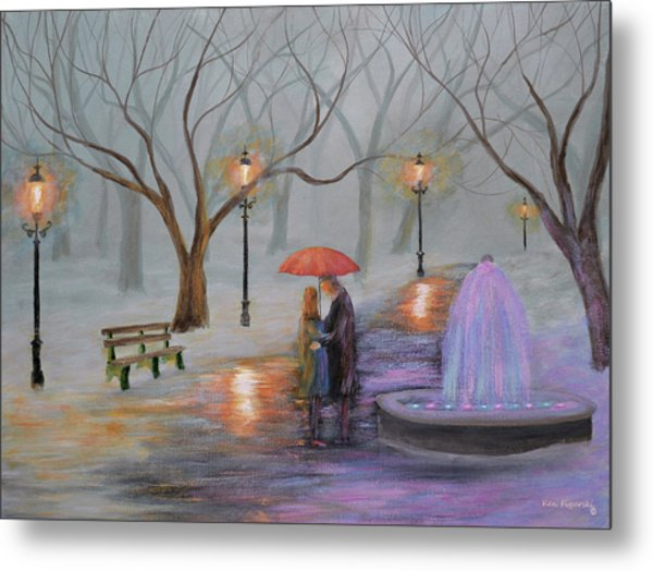 Romance In The Park Metal Print