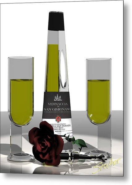 Romance Italian Contemporary Wine Metal Print