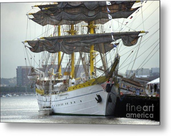 Romanian Tall Ship Metal Print by Jim Beckwith