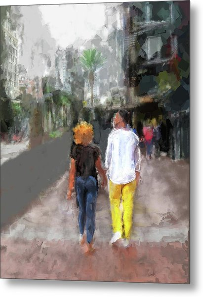 Romantic Couple Metal Print