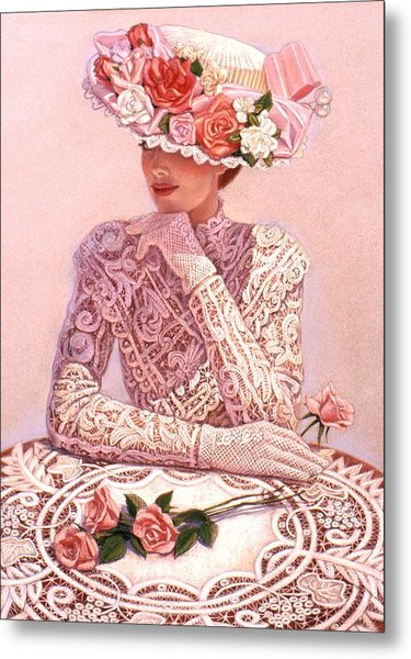 Romantic Lady Metal Print