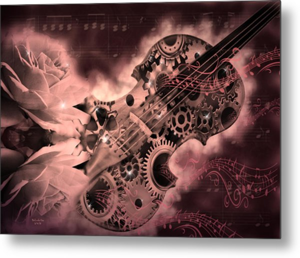 Romantic Stemapunk Violin Music Metal Print