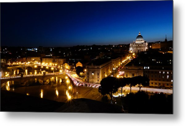 Rome From Castel Sant Angelo Metal Print