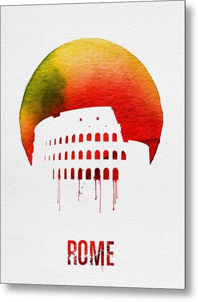 Rome Landmark Red Metal Print