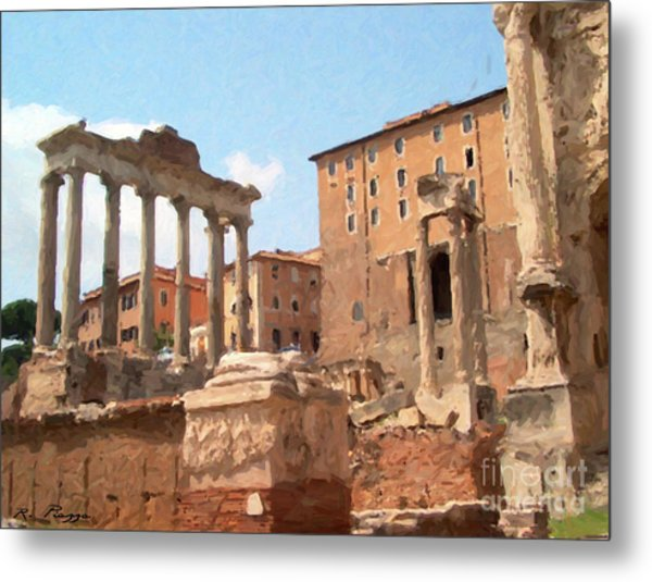 Rome The Eternal City And Temples Metal Print
