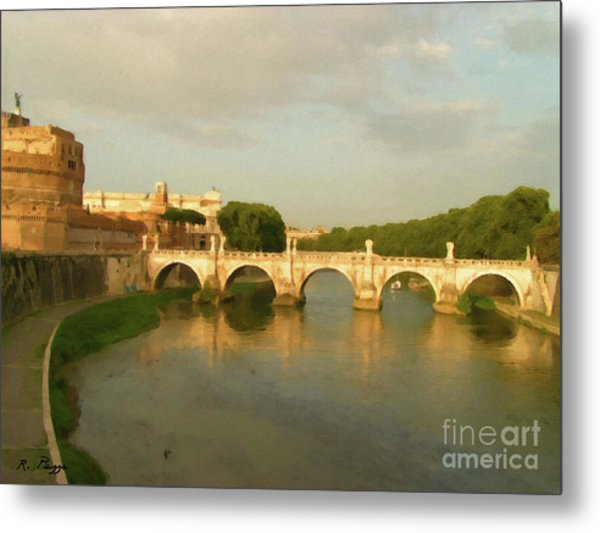 Rome The Eternal City And Tiber River Metal Print