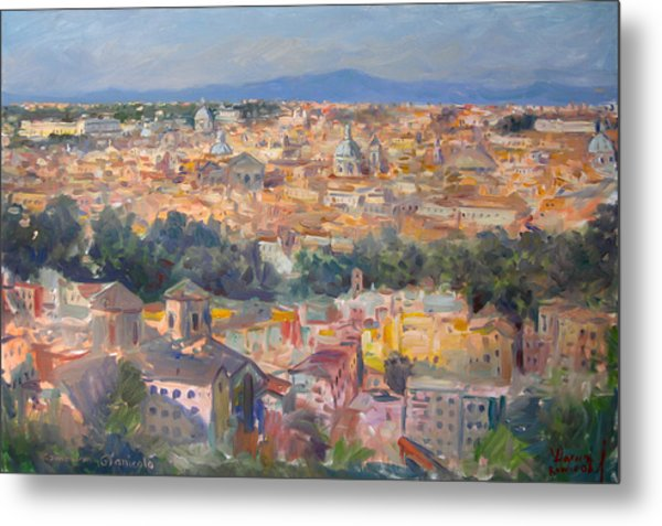 Rome View From Gianicolo Metal Print