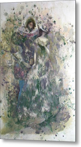 Romeo And Juliet. Monotype Metal Print
