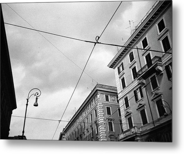 Rome's Downtown Cable Sky Metal Print