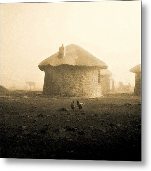 Rondavel In Lesotho Metal Print