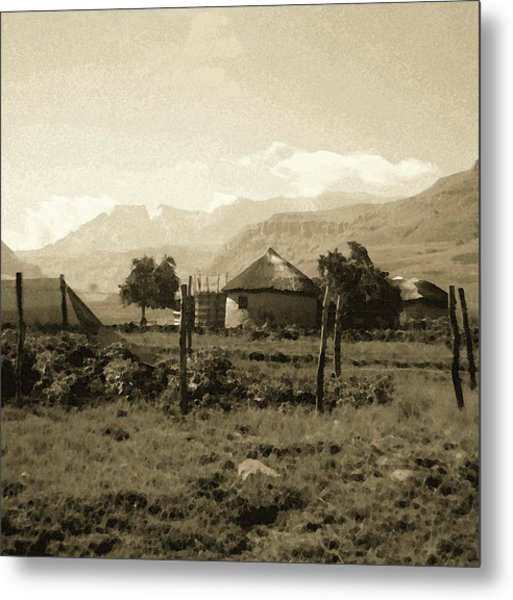 Rondavel In The Drakensburg Metal Print