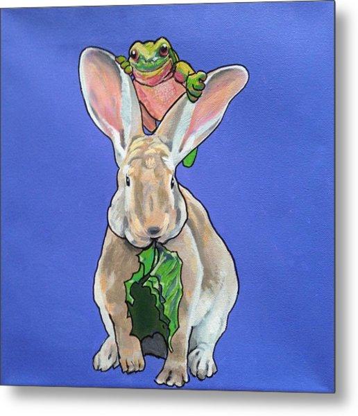 Ronnie The Rabbit Metal Print