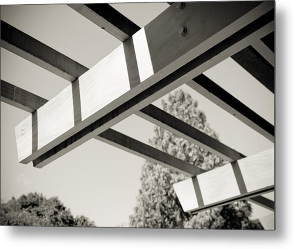 Roof Beams Metal Print by Edward Myers