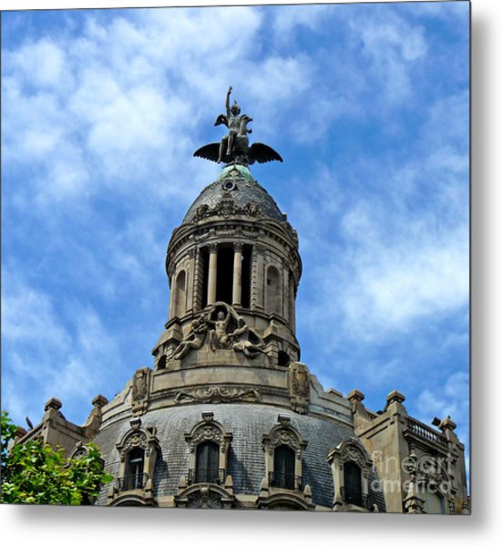 Roof Top Statue Metal Print