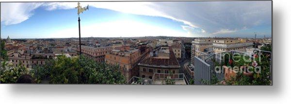 Rooftops Of Rome Metal Print