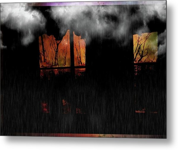 Room With Clouds Metal Print