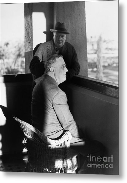 Roosevelt And Churchill Metal Print
