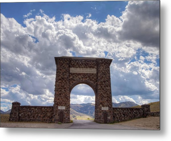 Roosevelt Arch Metal Print