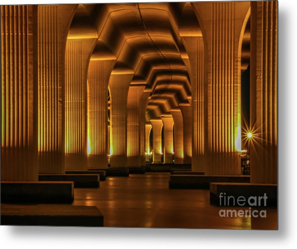 Metal Print featuring the photograph Roosevelt Night Shot by Tom Claud
