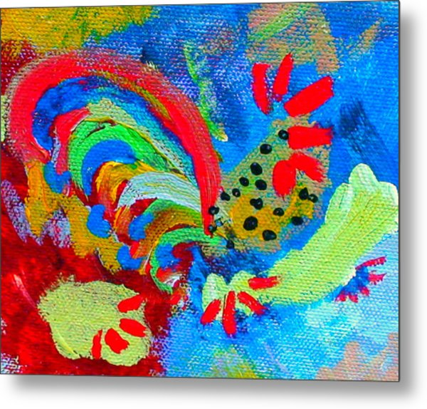 Rooster In The Sky From The Fairy Queen Metal Print