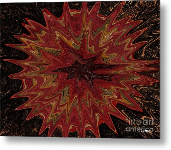 Root Flower Digital Metal Print