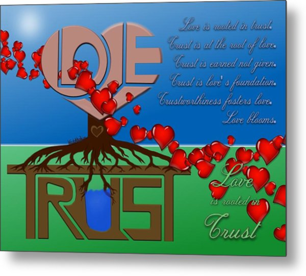 Rooted In Trust Metal Print
