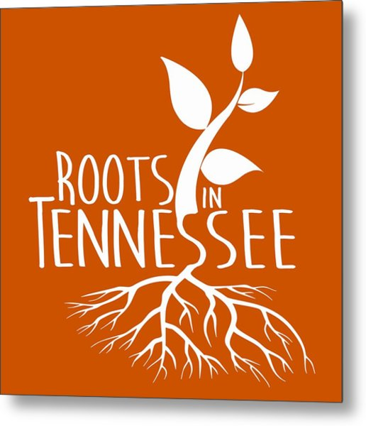 Roots In Tennessee Seedlin Metal Print