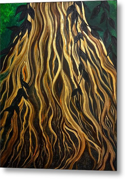 Metal Print featuring the painting Roots by Michelle Pier