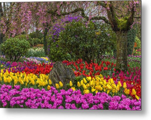 Roozengaarde Flower Garden Metal Print