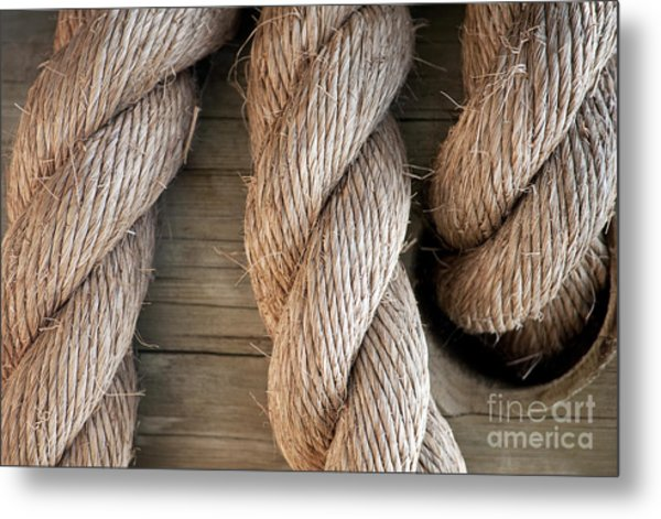 Rope In A Hole Metal Print
