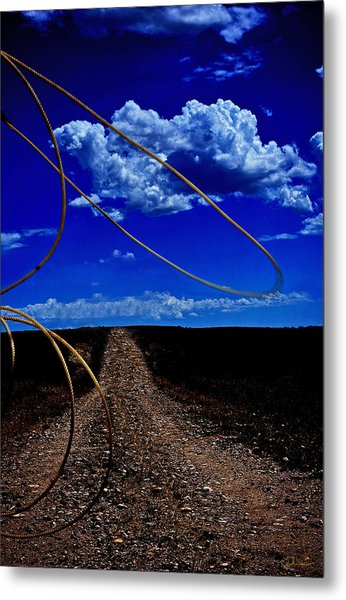 Rope The Road Ahead Metal Print