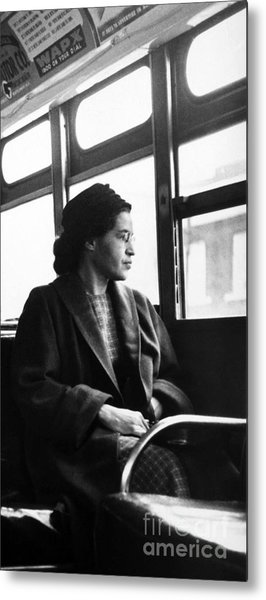 Rosa Parks Sitting On A Bus In Montgomery, Alabama Metal Print