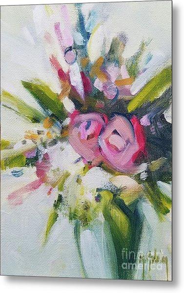 Rose Bouquet Flower Color Spring Metal Print