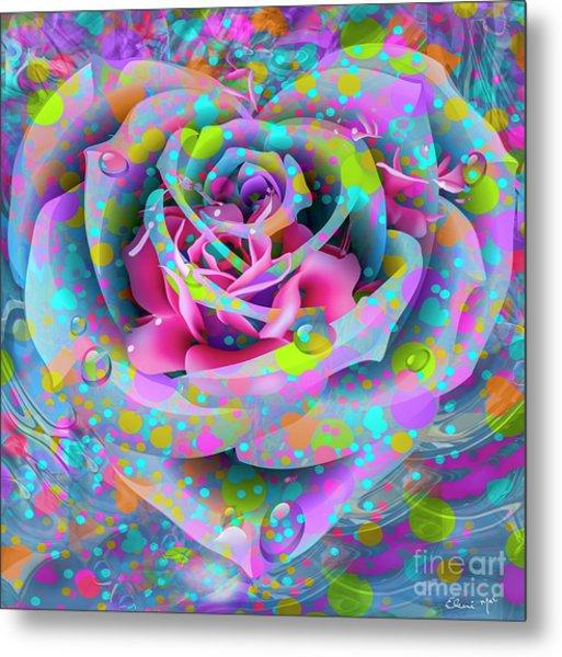 Metal Print featuring the digital art Rose by Eleni Mac Synodinos