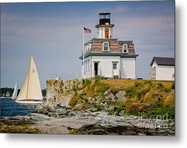Rose Island Light Metal Print
