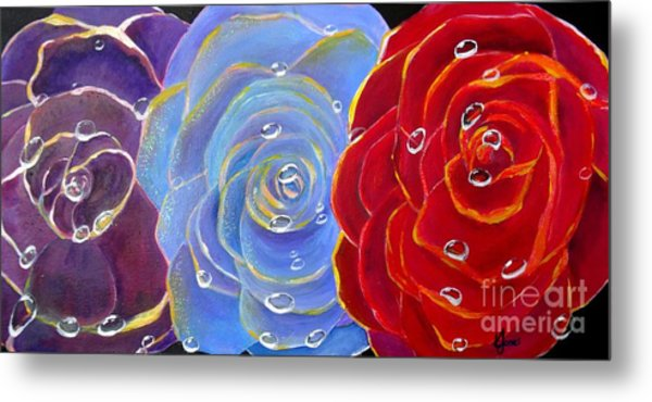 Rose Medley Metal Print