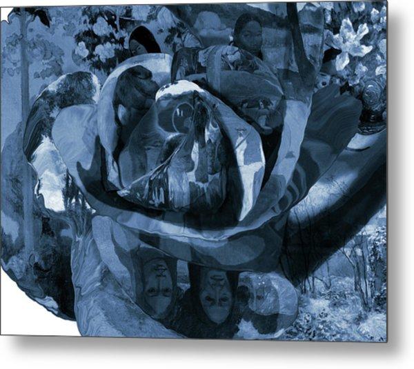 Metal Print featuring the digital art Rose No 1 by David Bridburg