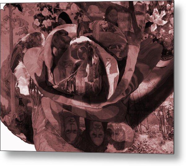 Metal Print featuring the painting Rose No 2 by David Bridburg