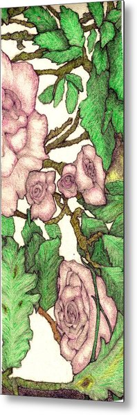Rose Panel No 2 Metal Print by Edward Ruth
