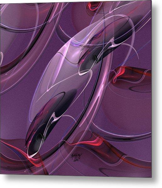 Rose Reflections Metal Print