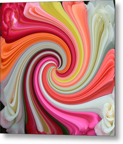 Rose Swirl 1 Metal Print