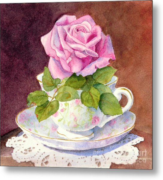 Rose Tea Metal Print