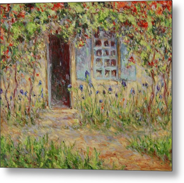 Rose Trees At The Front Of The House Metal Print