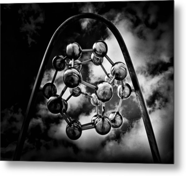 Rosehill Reservoir Fountain Sculpture Toronto Canada No 3 Metal Print