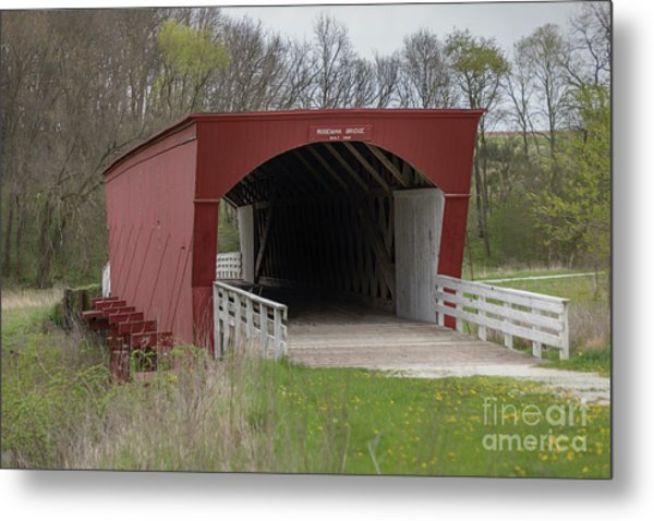 Roseman Covered Bridge - Madison County - Iowa Metal Print