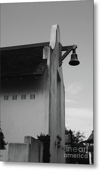 Rosemary Beach Post Office In Black And White Metal Print
