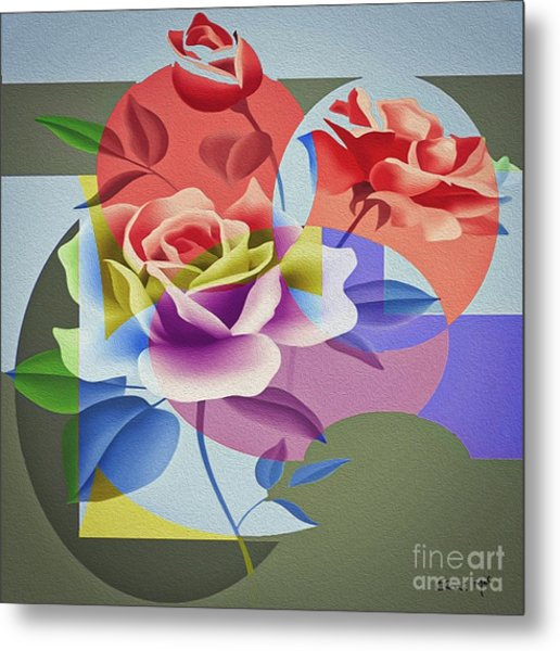 Metal Print featuring the digital art Roses For Her by Eleni Mac Synodinos
