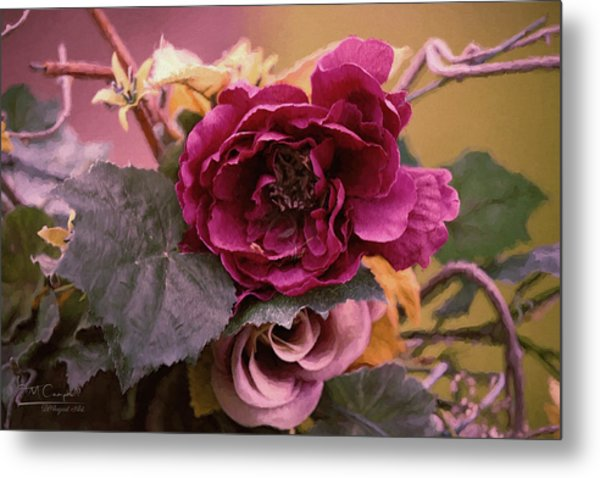 Roses In Oils Metal Print