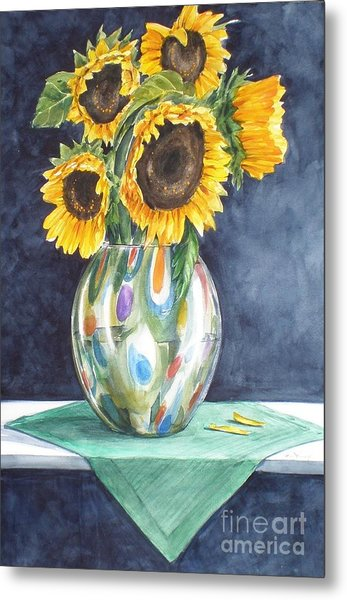 Rose's Sunflowers Metal Print